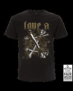 LOVE A '10 Jahre' T-Shirt Gold