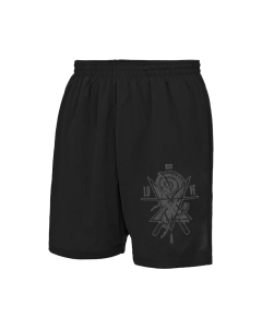 LOVE A 'WSDT' Mesh Shorts Schwarz